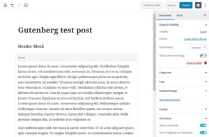 WordPress 5.0 Gutenberg Update