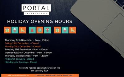 Portal Technologies Christmas Opening Times